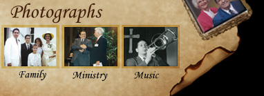 Photographs of Richard Blanchard's family, ministry, music and life